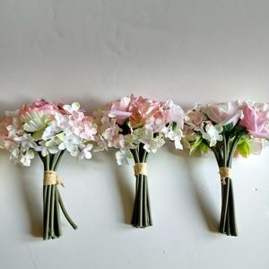 30 pcs Artificial Rose and Hydrangea Bunches